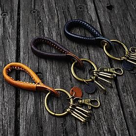 Scottish Leather Handmade Keychain
