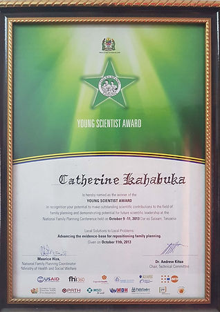 Young Scientist Award_Dr. Catherine (JPG