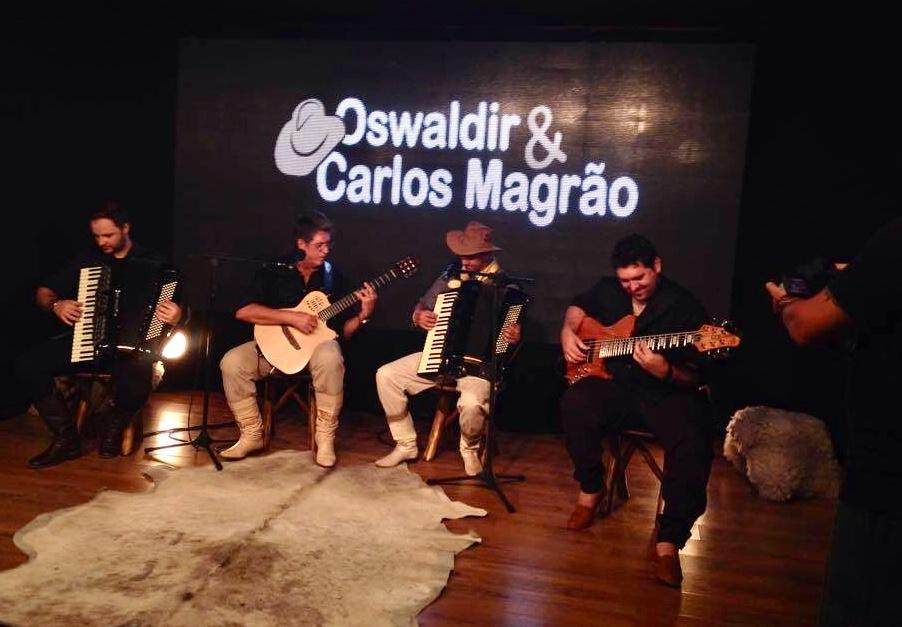 Com Osvaldir e Carlos Magrão