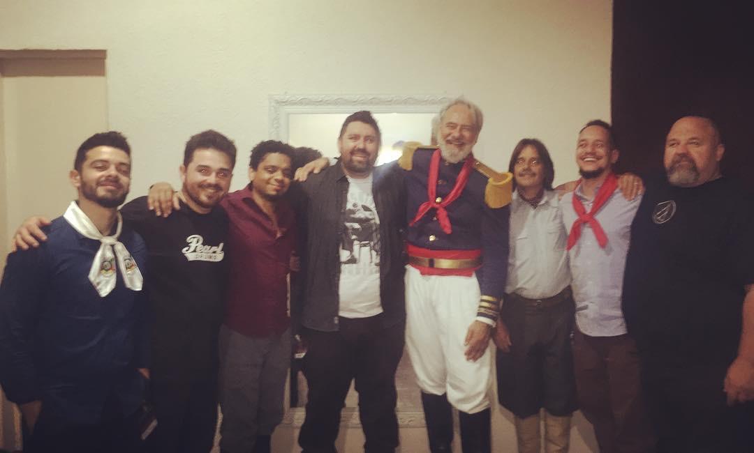 Com os amigos de Décio Tavares e Banda