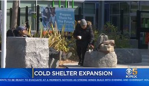 SAN JOSE OPENS 2 WARMING SHELTERS FOR HOMELESS EVERY NIGHT UNTIL APRIL