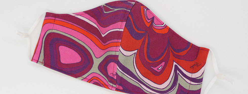 Authentic Emilio Pucci Fabric Facemask - Pink