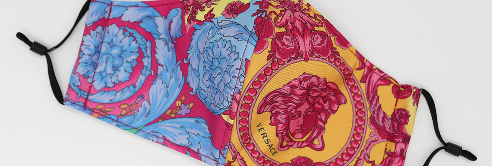 Authentic Versace Silk Face Mask