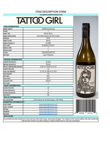 Chardonnay Item Description Sheet