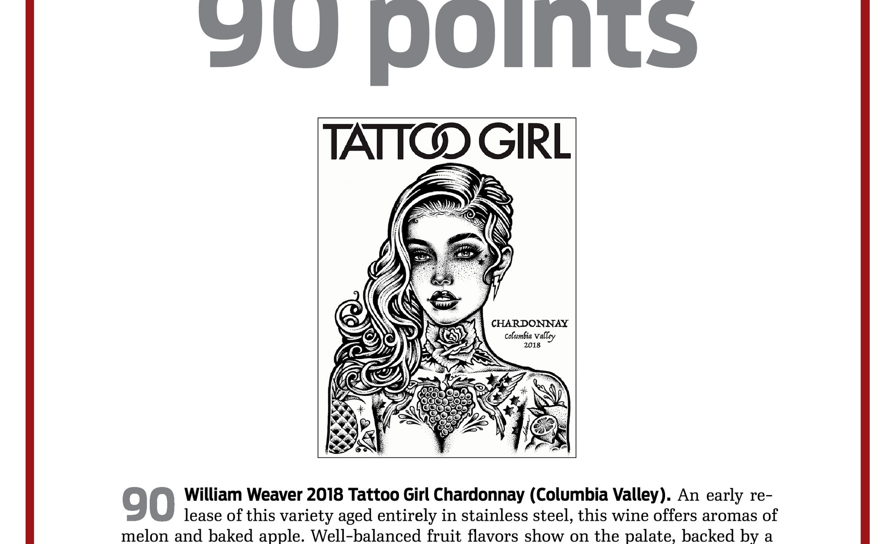 2018 Tattoo Girl Chardonnay