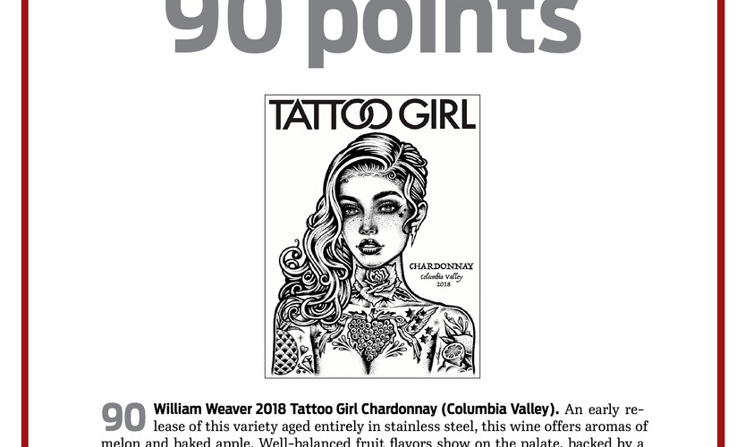 2018 Tattoo Girl Chardonnay