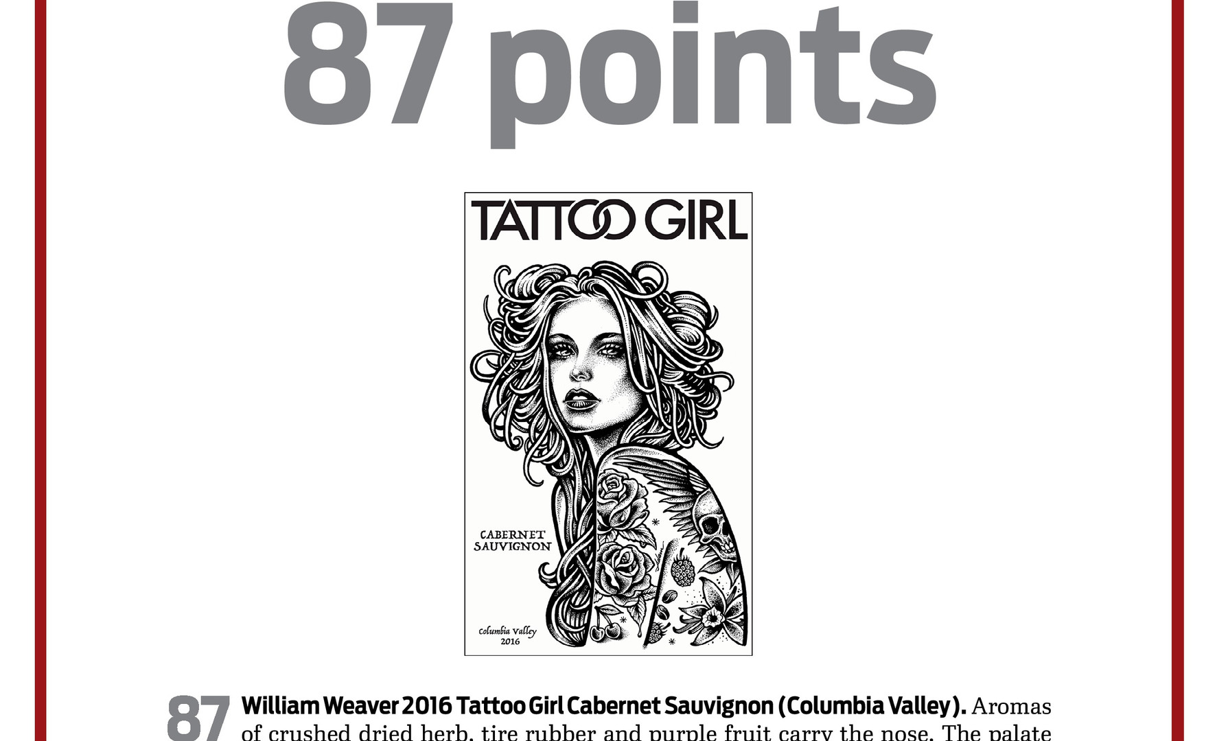 2016 Tattoo Girl Cabernet Sauvignon