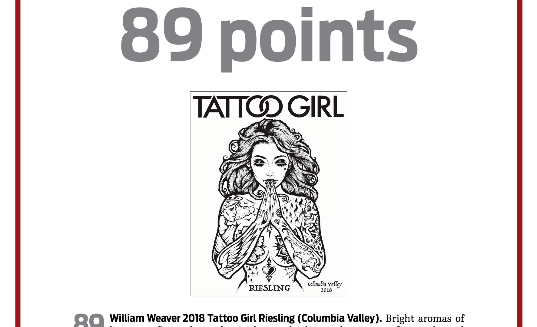 2018 Tattoo Girl Riesling