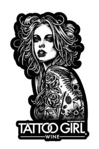 Tattoo Girl Wine Sticker Cabernet Sauvignon