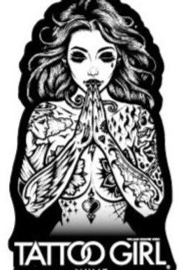 Tattoo Girl Wine Sticker Riesling