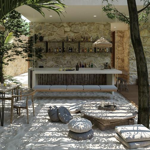 tescala | S2616 | bar en patio