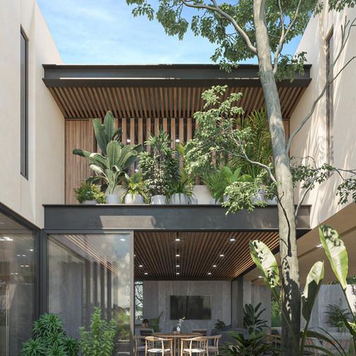 BOOY | tescala | patio de acceso