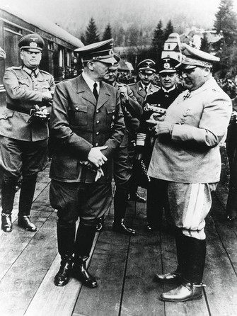 Nazi Leaders with Hitler on his Birthday, April 20, 1941.