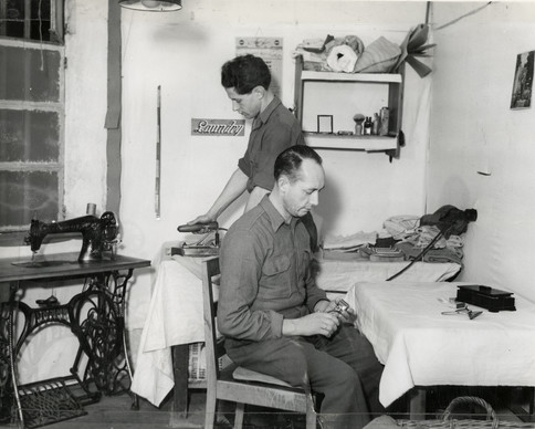 German POWs worked in the prison laundry, cleaning and pressing clothing for defendants to meet with interrogators, their attorneys, and in court once the trial began