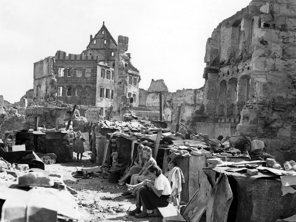 Starving citizens of Nuremberg, mostly women, children and the elderly, were living amidst the ruins – cooking on open stoves and just trying to survive. A job at the Palace of Justice as a typist or cook meant access to food, used cigarette butts and coffee grounds.