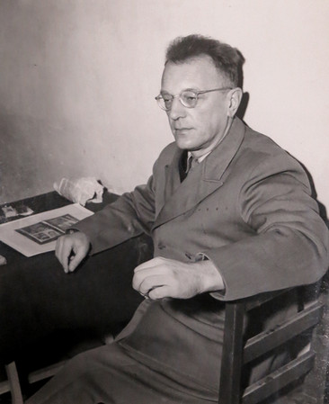 Arthur Seyss-Inquart in Nuremberg prison, Nov. 1945