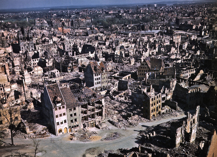 More than 20,000 dead were still buried under the rubble as Allied War Crimes Trials personnel descended upon Nuremberg