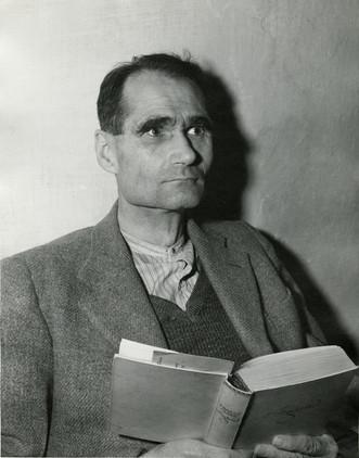 Rudolph Hess in Nuremberg prison, Nov. 1945