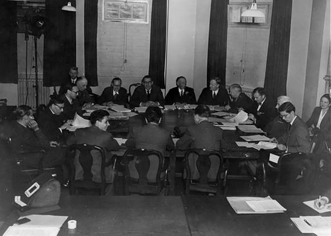 London Charter August 8, 1945: After almost a month of negotiations, Allied prosecutors established the International Military Tribunal and developed four charges – crimes against peace, war crimes, crimes against humanity, and conspiracy. Six Nazi organizations were indicted along with various Nazi leaders.