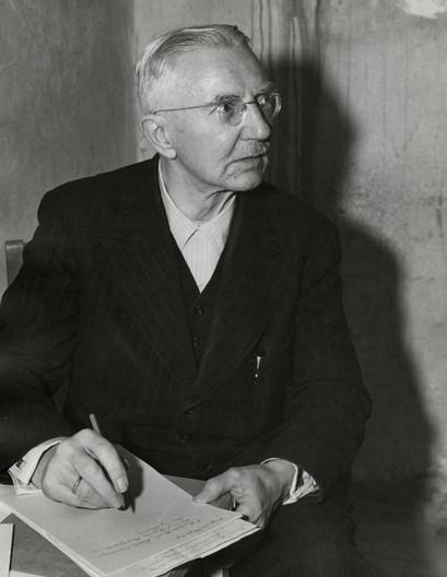 Hjalmar Schacht in Nuremberg prison, Nov. 1945