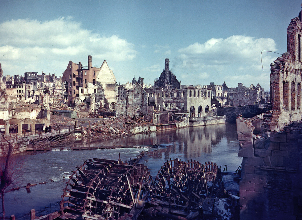 In July, 1945, the Allies selected Nuremberg as a location for the trial, and began preparations amidst a city that was 90% bombed to ruins