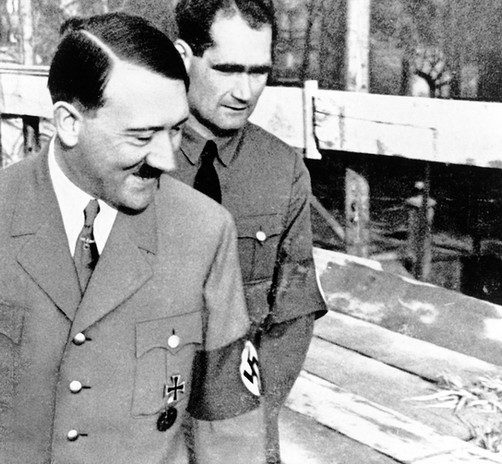 Deputy Führer Rudolph Hess helped Hitler write Mein Kampf in 1923 while in prison together for attempting to overthrow the government