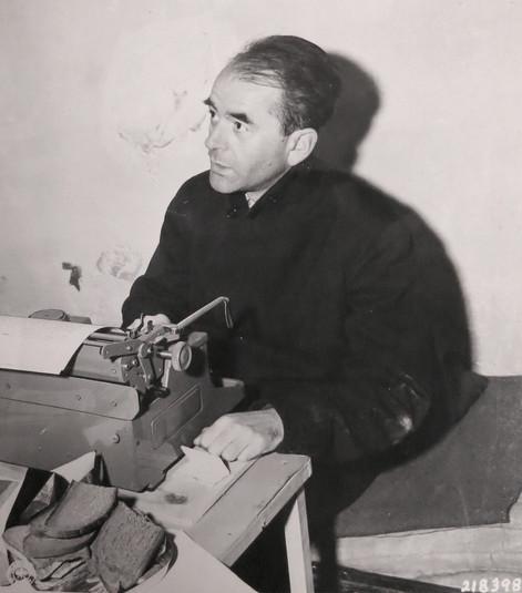 Albert Speer in Nuremberg prison, Nov. 1945