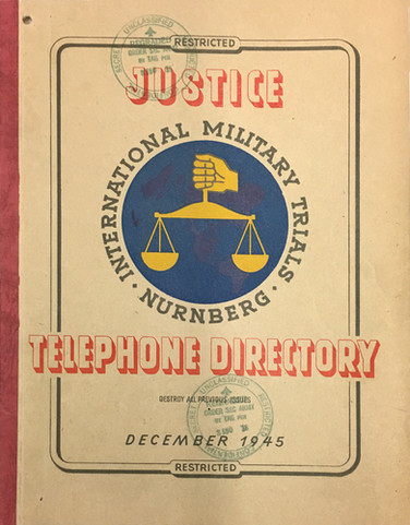 With hundreds of offices for more than 1,000 international trial staff, the Palace of Justice required its own telephone directory.