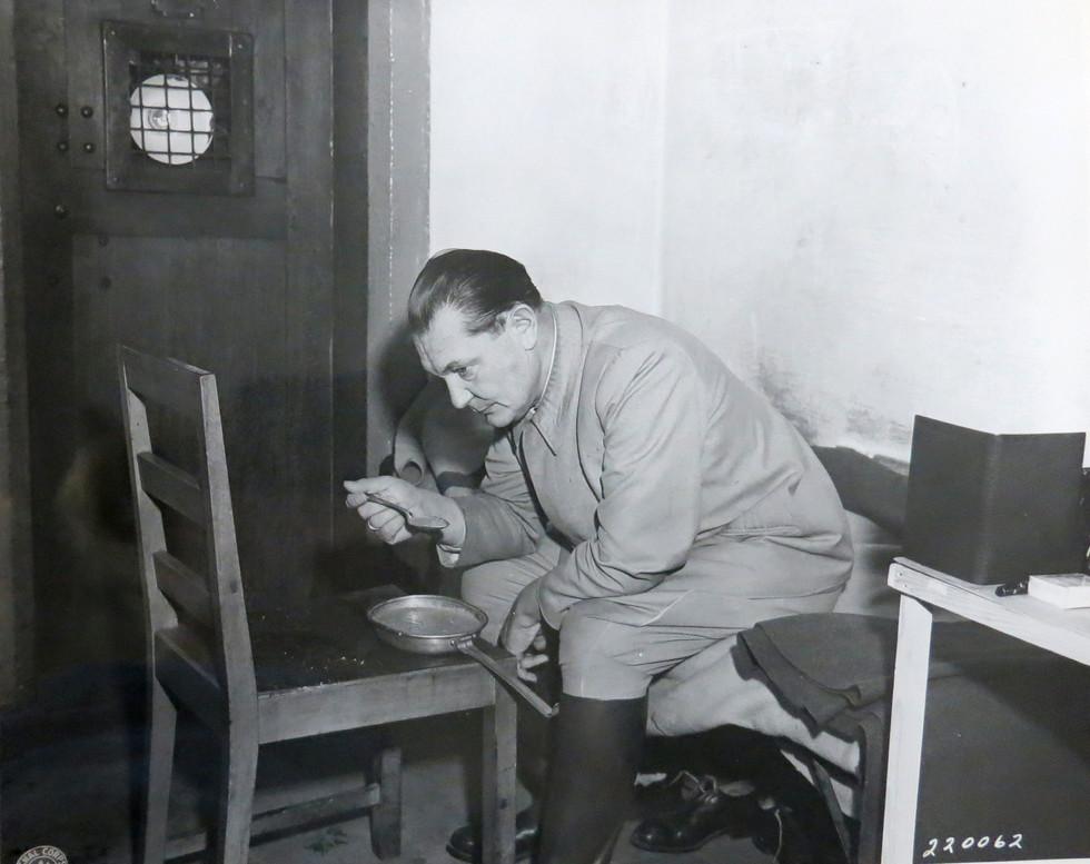 Hermann Goering in Nuremberg prison, Nov. 1945