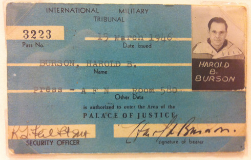 Photo ID Badge for American Forces Network (AFN) correspondent Harold Burson