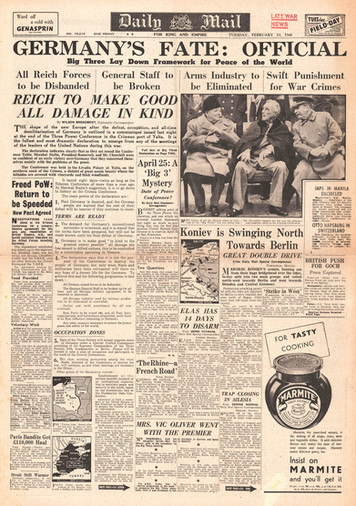 Headlines from the Yalta Conference