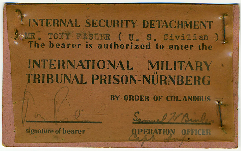 ID badge for entering the prison. Note: this is for an administrative person in the Internal Security Detachment, not a guard.