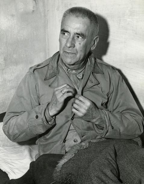 Wilhelm Frick in Nuremberg prison, Nov. 1945