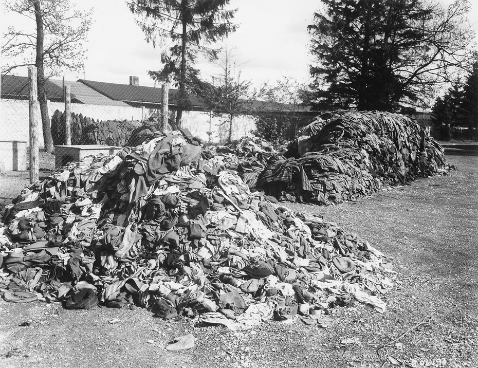 Clothes that belonged to prisoners of the Dachau concentration camp