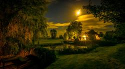 Weidum bij nacht