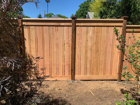 Custom Picture Frame Solid Cedar Fence