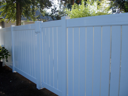 Solid White Vinyl Fencing