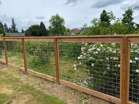 Hogwire Cedar Fence
