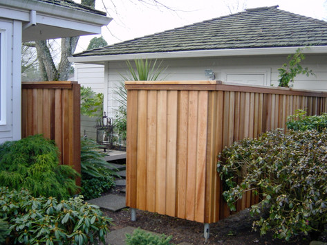 Overlapped Solid Fence