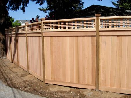 Picture Frame Cedar Fence w/ Catalina Lattice Top