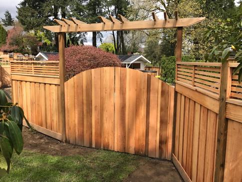 Double Swing Cedar Gate