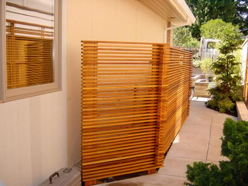 Custom Horizontal Cedar Fence