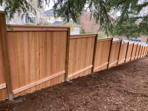 Solid Cedar Fence (Rail Side)