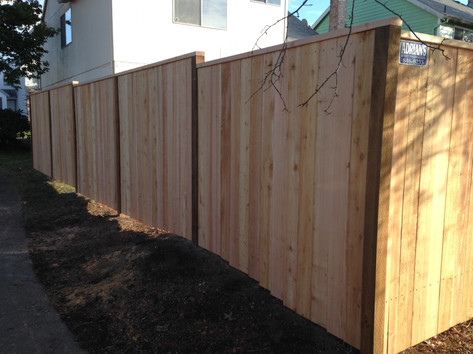 Solid Cedar Fence w/ Cap