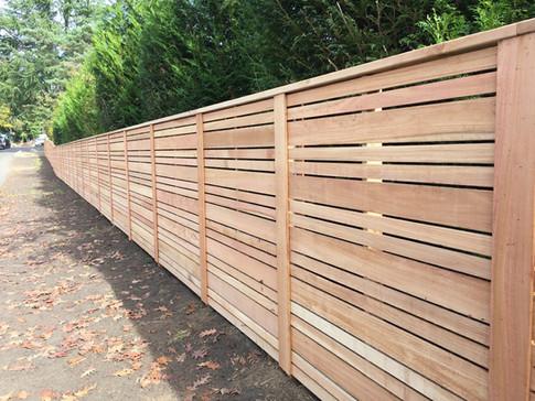 Custom Horizontal Double Sided Cedar Fence