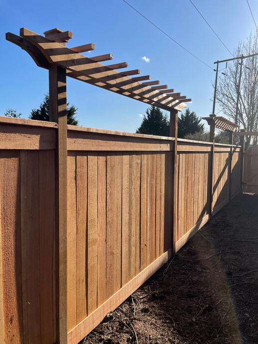 Picture Frame Solid Cedar Fence