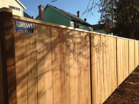 Solid Cedar Fence (Boarded Side)