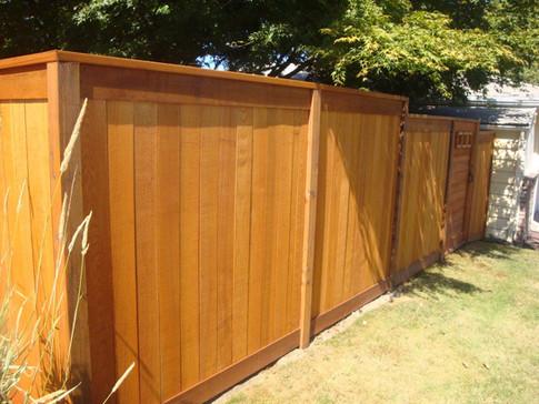 Picture Frame Cedar Fence