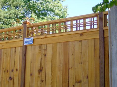Picture Frame Cedar Fence w/ Catalina Lattice
