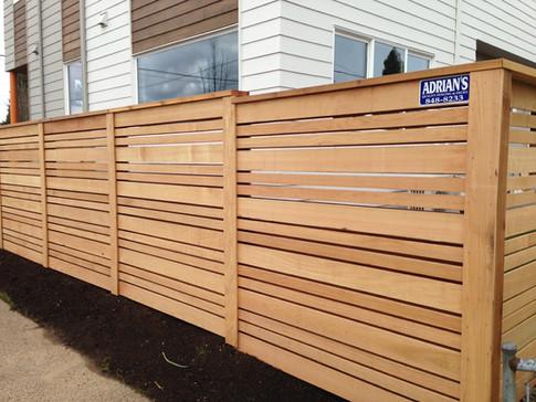 Custom Double Sided Horizontal Cedar Fence